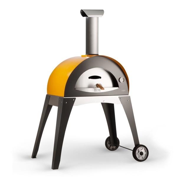 Alfa Pizzaofen CIAO Gelb mit Unterbau