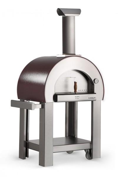 Alfa Pizzaofen 5 Minuti Kupfer mit Unterbau