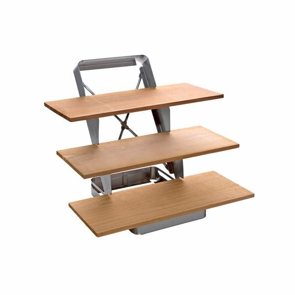 Treppe aus Edelstahl für Holzplanken, klappbar