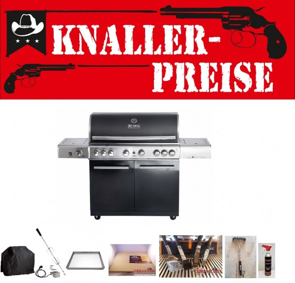 Allgrill Gasgrill Topline Chef XL Black Sonderpreis