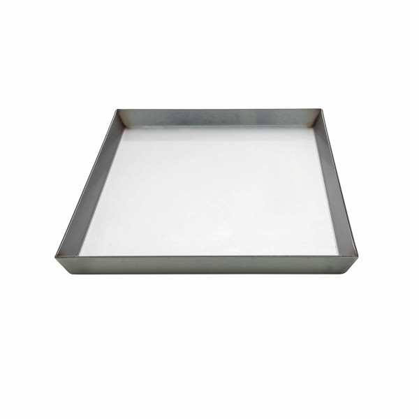 Edelstahlkochplatte 30x46x2 cm