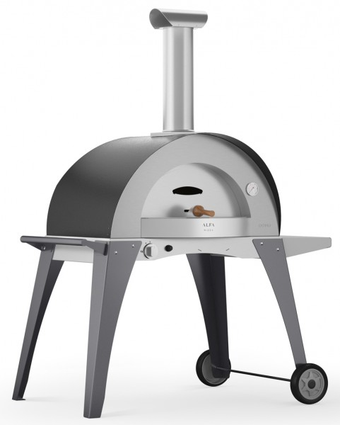 Alfa Pizzaofen Ciao Grau mit Unterbau