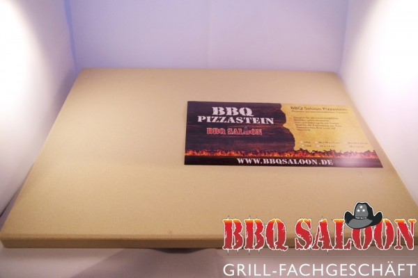 BBQ Saloon Pizzastein eckig 38x30x1,5 cm