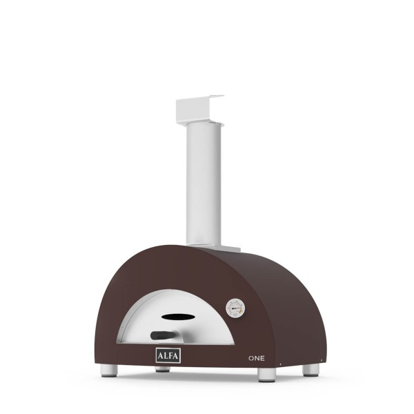 Alfa Pizzaofen ONE Kupfer Top Holz seitlich