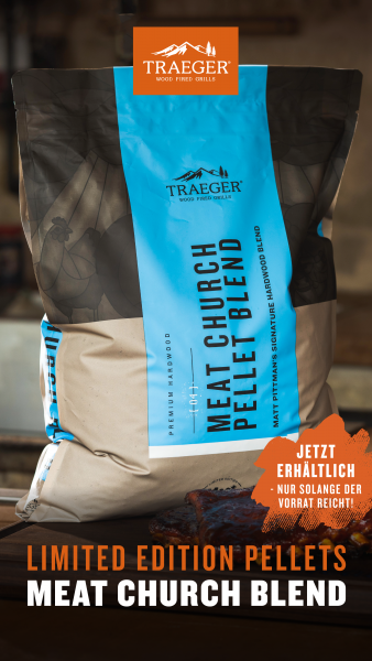Traeger BBQ-Holzpellets MEAT CHURCH 8 kg Sack