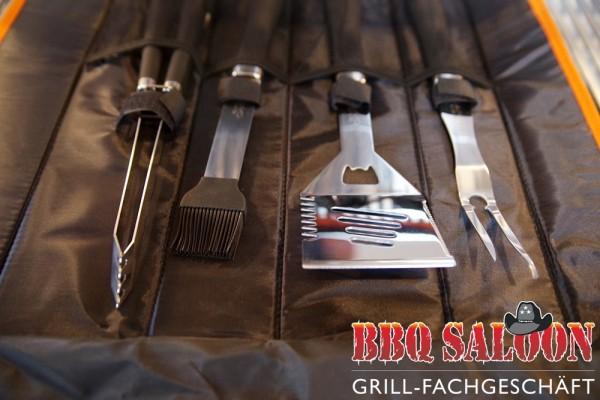 BBQ Saloon Edelstahl-Grillbesteck-Set 5tlg.